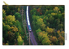 Aerial Of  Commuter Train  Carry-all Pouch