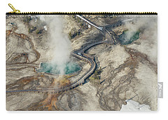 Aerial Photo Of Black Pool And Abyss Pool At West Thumb Gesyer Basin Carry-all Pouch
