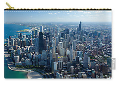 Aerial View Of A City, Lake Michigan Carry-all Pouch
