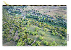 aerial view of Dismal River in Nebraska Sandhills Carry-all Pouch