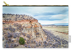 aerial view of northern Colorado foothills  Carry-all Pouch