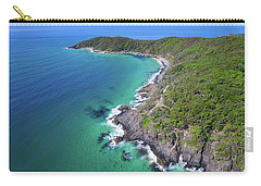 Carry-all Pouch featuring the photograph Aerial View Of The Coastline In Noosa National Park by Keiran Lusk