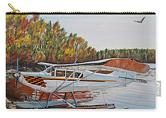 Carry-all Pouch featuring the painting Aeronca Super Chief 0290 by Marilyn  McNish