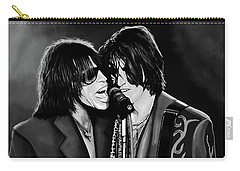 Aerosmith Toxic Twins Mixed Media Carry-all Pouch by Paul Meijering