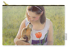 Carry-all Pouch featuring the painting Affection by Nancy Lee Moran