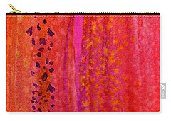 Carry-all Pouch featuring the painting Aflutter by Desiree Paquette