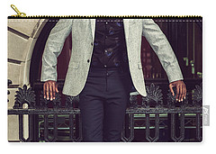 African American Businessman Working In New York Carry-all Pouch