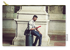 African American College Student Studying In New York Carry-all Pouch