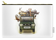 African Animals In Safari Tour Vehicle Carry-all Pouch