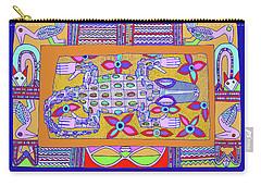Carry-all Pouch featuring the digital art African Croc Beach Bum by Vagabond Folk Art - Virginia Vivier