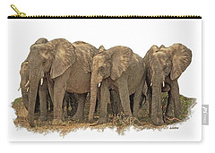 African Elephants 2 Carry-all Pouch