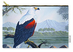 Carry-all Pouch featuring the painting African Fish Eagle by Anthony Mwangi