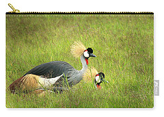 African Gray Crown Crane Carry-all Pouch