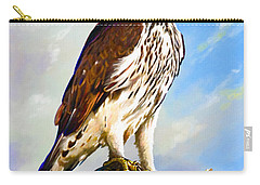 African Hawk Eagle Carry-all Pouch by Anthony Mwangi