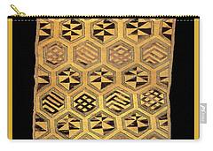 Carry-all Pouch featuring the digital art African Kuba Cloth Print by Vagabond Folk Art - Virginia Vivier