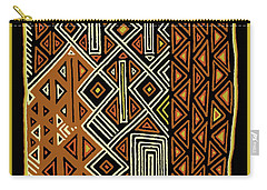Carry-all Pouch featuring the digital art African Kuba View From Earth by Vagabond Folk Art - Virginia Vivier