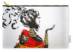 African Lady And Baby Carry-all Pouch