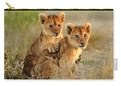 African Lion Cubs Carry-all Pouch