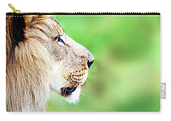 African Lion Face Closeup Web Banner Carry-all Pouch