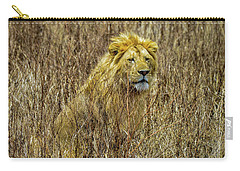 African Lion In Camouflage Carry-all Pouch