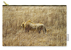 African Lion Stalking Carry-all Pouch