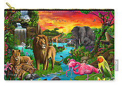 African Paradise Carry-all Pouch by Gerald Newton