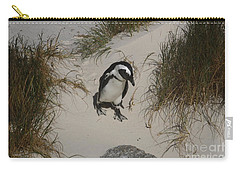 African Penguin On A Mission Carry-all Pouch