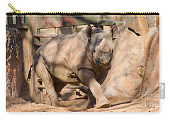 Carry-all Pouch featuring the photograph African Rhino by Donna Brown