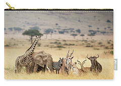 African Safari Animals In Dreamy Kenya Scene Carry-all Pouch
