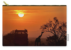 African Safari Sunset Silhouette Carry-all Pouch