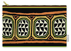 Carry-all Pouch featuring the digital art African Tribal Textile by Vagabond Folk Art - Virginia Vivier