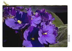 Carry-all Pouch featuring the photograph African Violets by Phyllis Denton