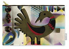 Afro - Aesthetic - K  - Sankofa Bird  And Adinkra Symbol For Abundance Carry-all Pouch