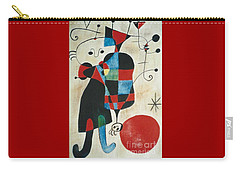 Carry-all Pouch featuring the painting after Joan Miro by Jodie Marie Anne Richardson Traugott          aka jm-ART