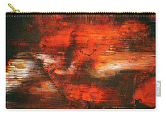After Midnight - Black Orange And White Contemporary Abstract Art Carry-all Pouch