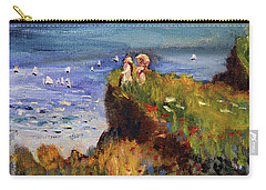 After Monet Somewhere On The Cliffs Of Normandie Carry-all Pouch