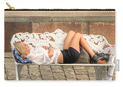 Carry-all Pouch featuring the pyrography after party Stocholm by Yury Bashkin