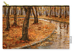 After Rain,walk In The Central Park Carry-all Pouch