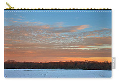 Carry-all Pouch featuring the photograph After Storm Jonas by Steven Richman