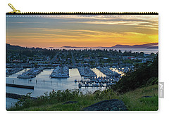 After Sunset At The Marina Carry-all Pouch by Ken Stanback