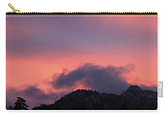 Carry-all Pouch featuring the photograph After Sunset - Panorama by Shane Bechler