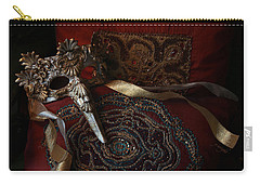 After The Ball - Venetian Mask Carry-all Pouch by Yvonne Wright