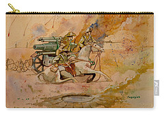 Carry-all Pouch featuring the painting After The Charge by Ray Agius
