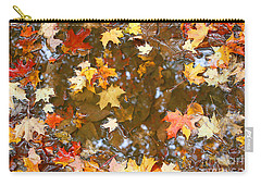 Carry-all Pouch featuring the photograph After The Fall by Mariarosa Rockefeller