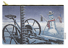 After The Harvest Snowman Carry-all Pouch by John Stephens