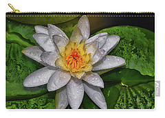 Carry-all Pouch featuring the photograph After The Rain - Water Lily 003 by George Bostian