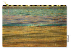 Carry-all Pouch featuring the photograph After The Sunset - Yellow Sky by Michelle Calkins