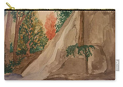 Carry-all Pouch featuring the painting Afternoon At The Creek by Maria Urso