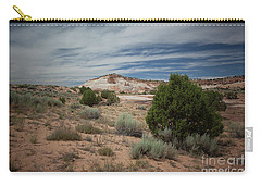 Afternoon Clouds Over White Pocket Carry-all Pouch by Anne Rodkin