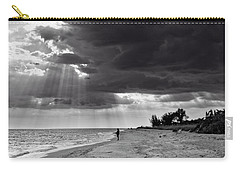 Afternoon Fishing On Sanibel Island In Black And White Carry-all Pouch by Chrystal Mimbs